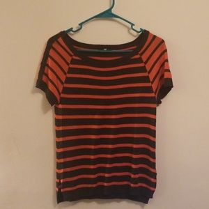 H&M red/navy striped shirt